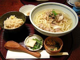 栗ごはん+鶏南蛮うどん950円