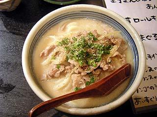 白肉うどん830円