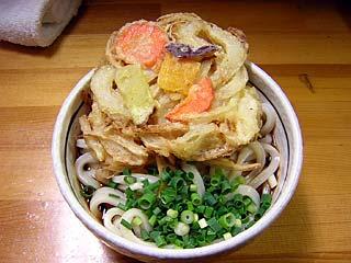 天ぷらぶっかけうどん450円