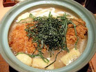 黒豚土鍋とんかつうどん1,160円