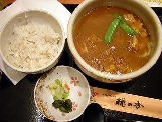 特選カレーうどん定食790円