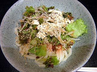 梅豆腐サラダうどん小399円