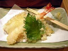 天ぷら(海老、サツマイモ、カボチャ、大葉)