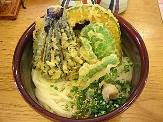 野菜ぶっかけ天ぷらうどん(冷)700円+大盛110円