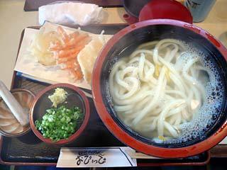 釜揚げうどん野菜天ぷら付き780円