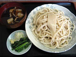 もりうどん600円+肉汁50円