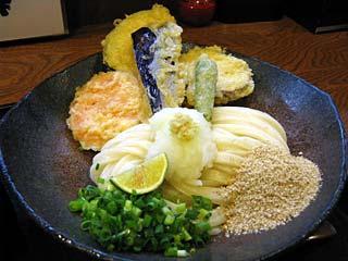 野菜天ぶっかけ750円