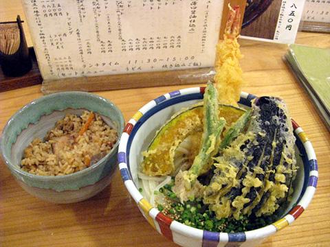 ぶっかけ天ぷらうどんセット850円