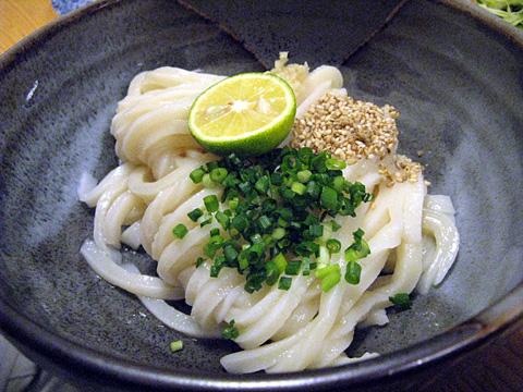 〆うどん(冷生醤油)