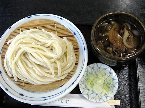 牛肉汁ざるうどん770円