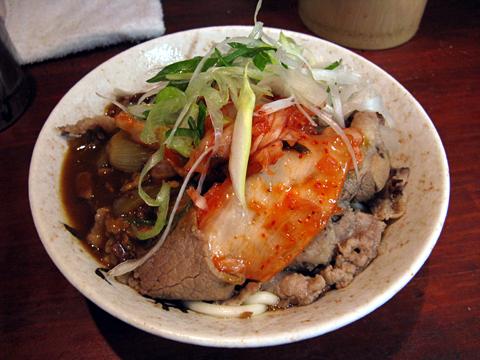 肉カレーうどん(ツユ足し)+キムチ520円