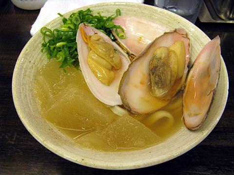 白貝と冬瓜の冷かけうどん並450円