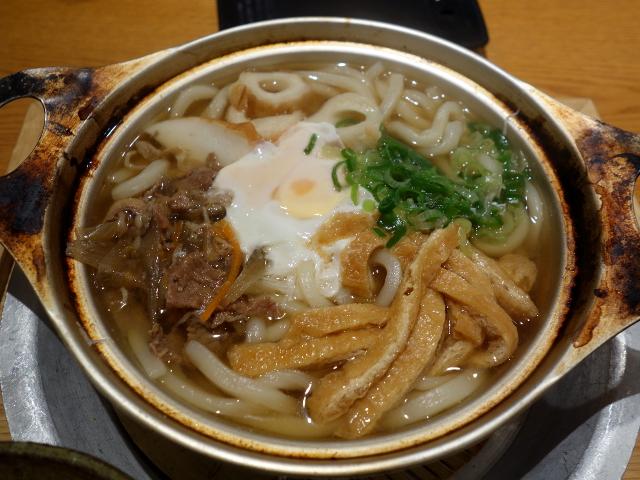 松山名物鍋焼きうどん850円