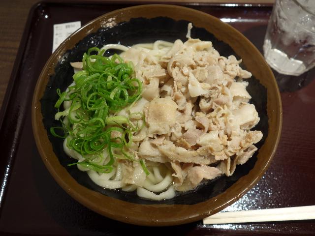 米澤豚肉うどん温680円