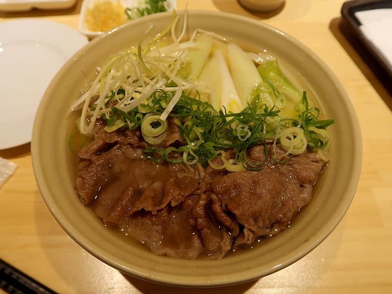 大人の肉ねぎうどん1500円