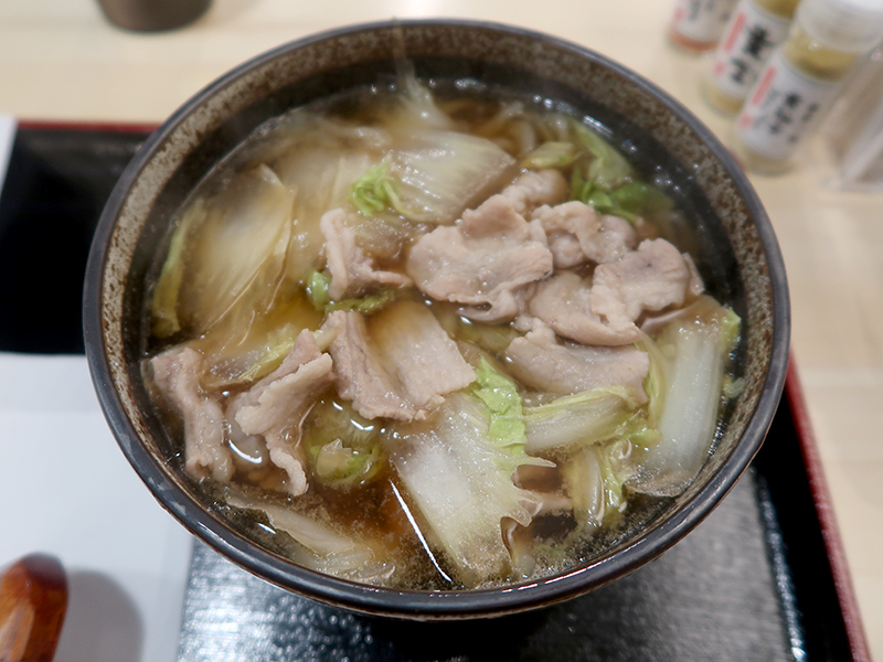 豚バラと白菜出汁のおいしいうどん800円